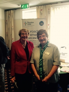 Jane Clark and Dame Annette Brooke